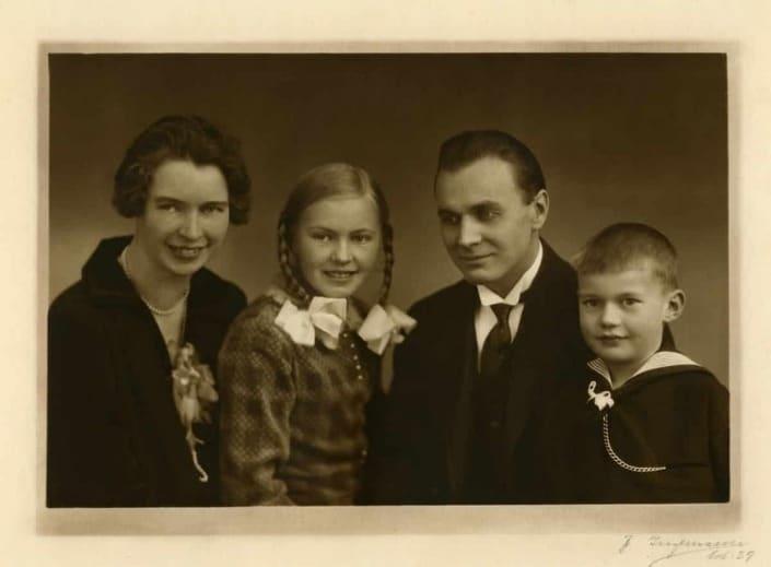 Kirsten, Marianne, Felix og Jørgen Stegemüller