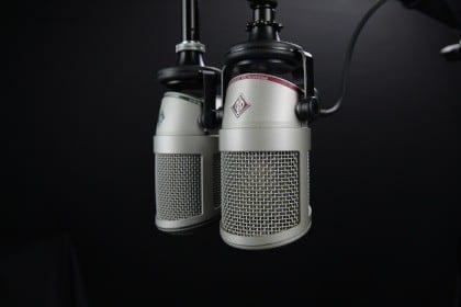 Gamle mikrofoner fra Danmarks Radio